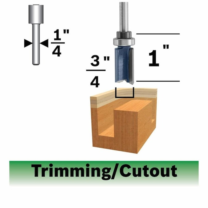 Bosch 85265MC 3//4-in Carbide-Tipped Straight Router Bit