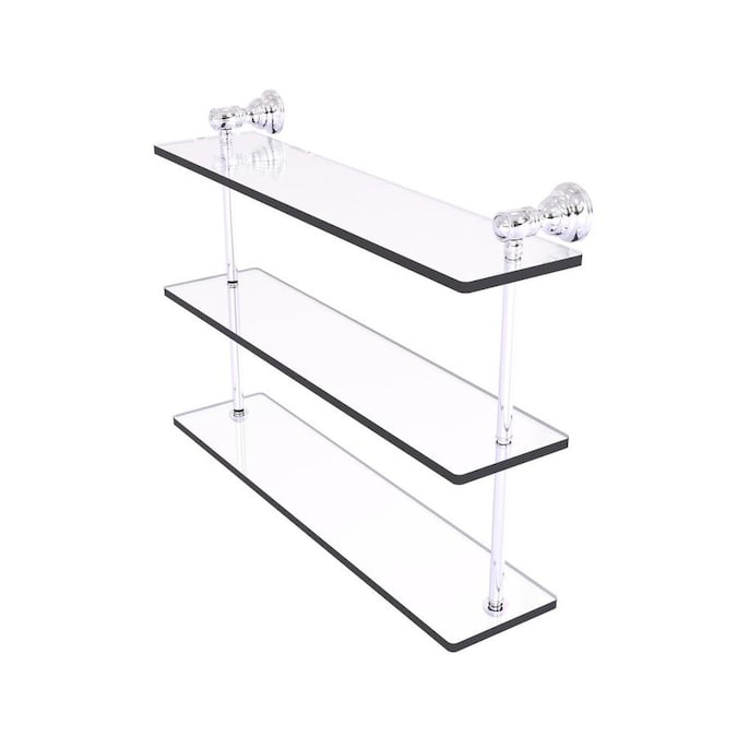 Allied Brass Carolina Polished Chrome 3 Tier Brass Wall Mount Bathroom Shelf In The Bathroom Shelves Department At Lowes Com