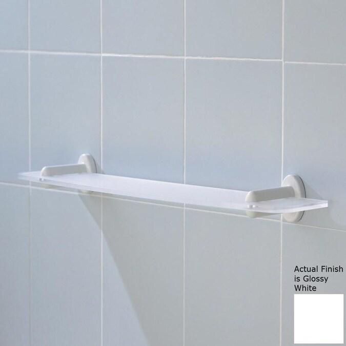 Ponte Giulio Usa Glossy White 1 Tier Plastic Wall Mount Bathroom Shelf In The Bathroom Shelves Department At Lowes Com