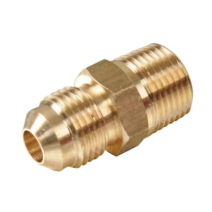"""Brass Fitting 1//2/"""" male x 3//8/"""" male flare adapter"""