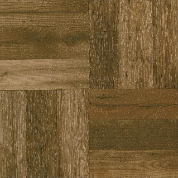 "Parquet Oak Floor Tile Armstrong 12""x12""x7//16"" Foam Back Natural 1 Box = 25 SQFT"