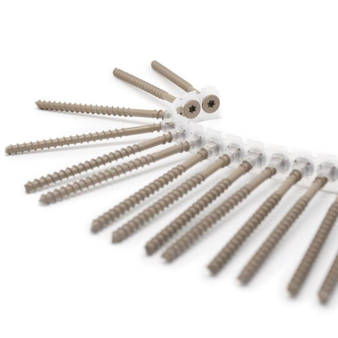 CAMO Collated Composite Face Screws 2-1//2 in 63mm BROWN