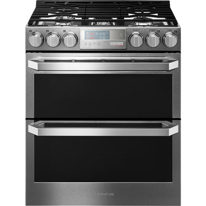 Double Oven Range with ProBake Convection Dual Fuel LG LUTD4919SN 7.3 Cu.ft