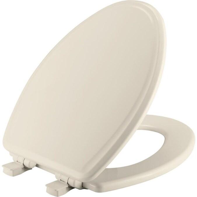 Linen Toilet Seat Bathroom Accessories Enameled Wood Durable Elongated Biscuit