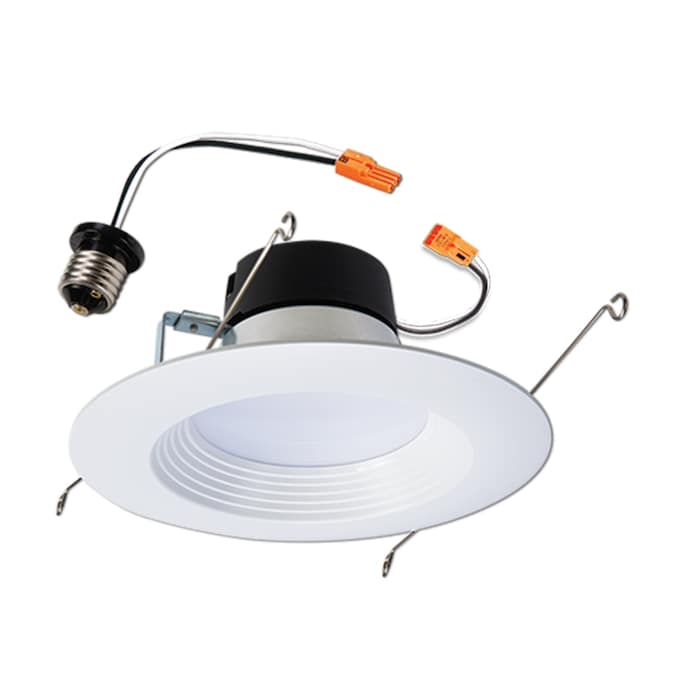 Halo LT560WH6930R-6PK LT 5 in 3000K Soft White Ceiling Light Fixture Retrofit Downlight Trim 90 CRI 6 Pack Recessed Integrated LED and 6 in