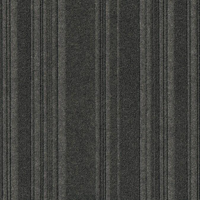 Cutting Edge 18 x 18 Peel and Stick Carpet Tile Black Ice