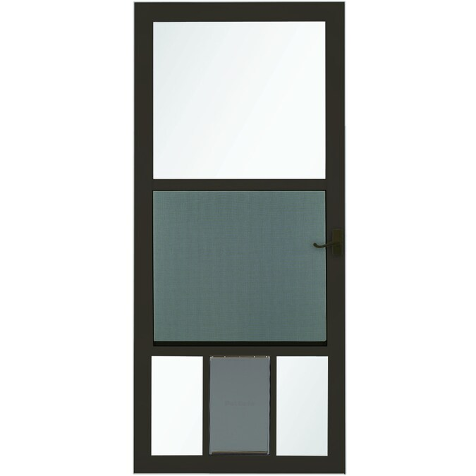 Larson Pet View 36 In X 81 In Brown Full View Aluminum Storm Door In The Storm Doors Department At Lowes Com Weatherstripping for exterior doors comes in an array of sizes and shapes. lowe s