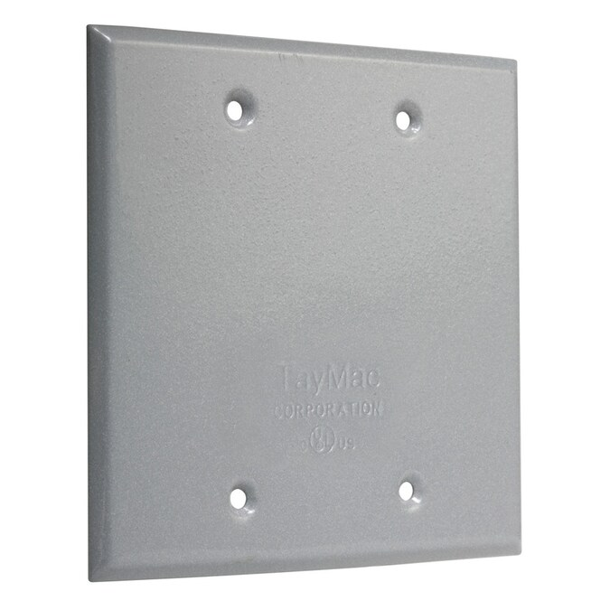 2-Gang Square Metal Electrical Box Cover 4 In Square Flat Blank Square Cover