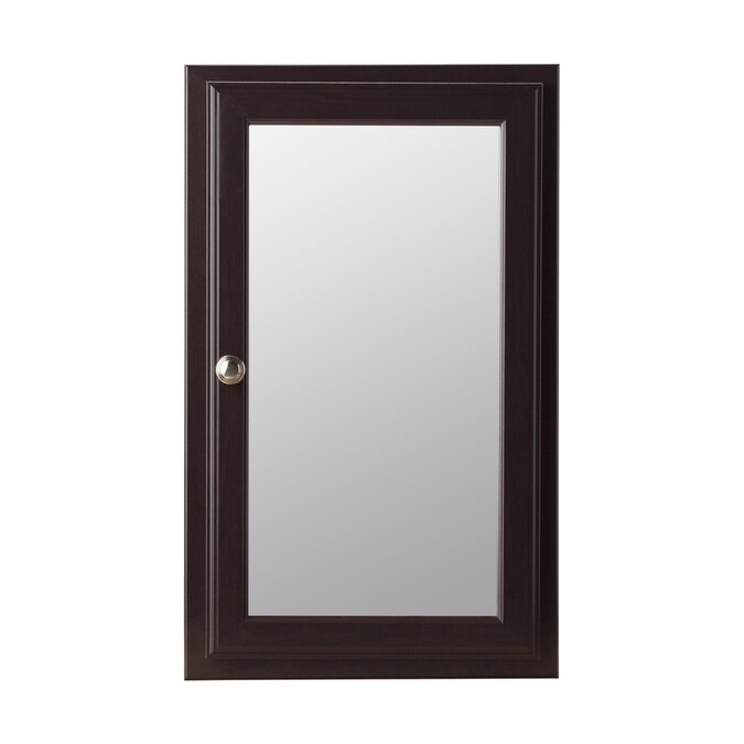 Style Selections 15 75 In X 25 75 In Surface Recessed Java Mirrored Rectangle Medicine Cabinet In The Medicine Cabinets Department At Lowes Com