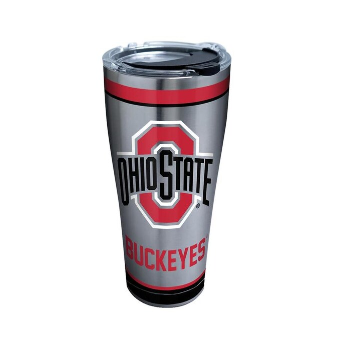 Tervis 1215796 Ohio State Buckeyes Parent Tumbler with Wrap and Red Lid 24oz Clear
