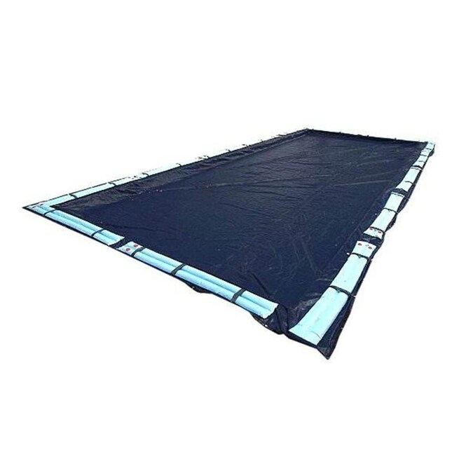 16/'x32/' Rectangle In-Ground Pool Winter Cover Charcoal Grey 5/' Overlap 20yr