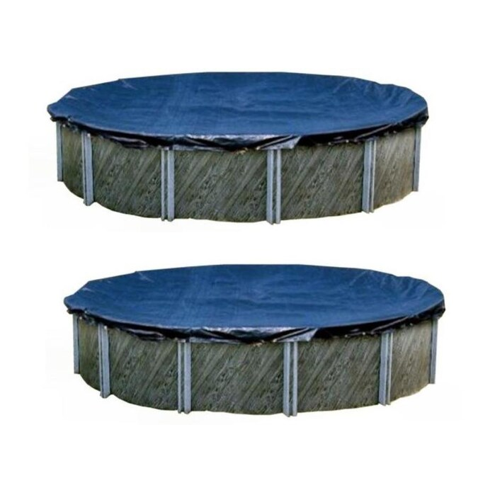 Swimline 25 x 45 Ft Winter In Ground Pool Cover w//Double Water Tubes 10 Pack