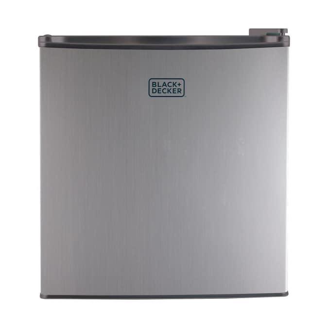White BLACK+DECKER BCRK17W Compact Refrigerator Energy Star Single Door Mini Fridge with Freezer 1.7 Cubic Ft.
