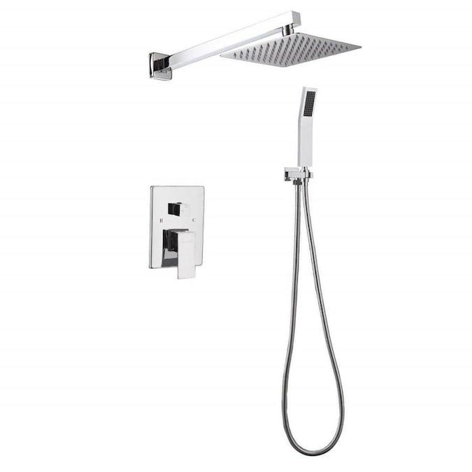 JOHO Stainless Steel Shower Head Rain Shower Head Polished Hand Shower Shower Head