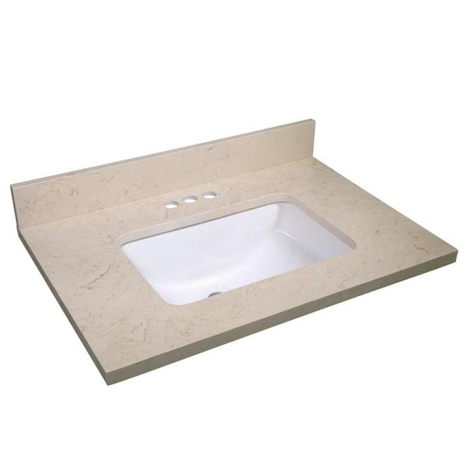 Design House 31 In Giallo Quartz Single Sink Bathroom Vanity Top In The Bathroom Vanity Tops Department At Lowes Com