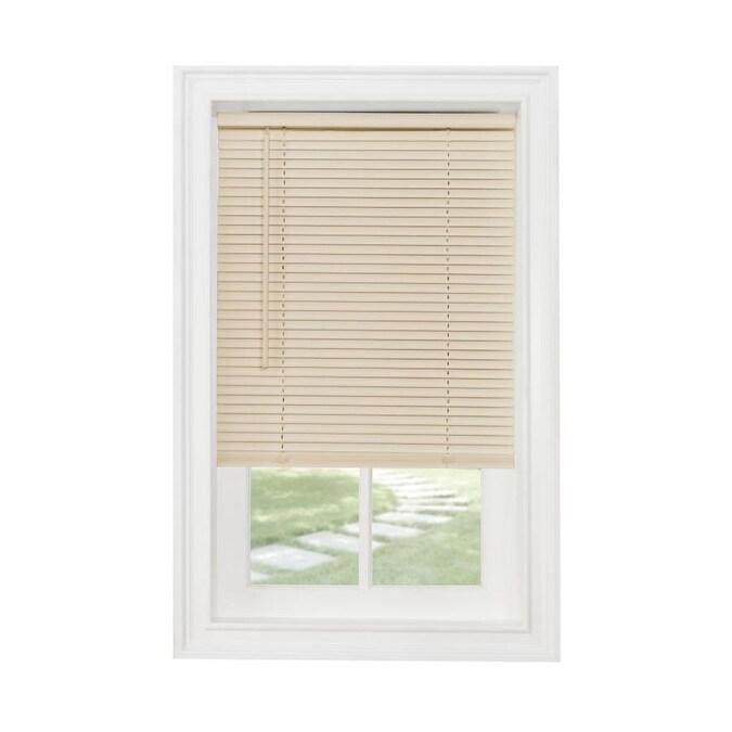 L Corded W x 64 in ALABASTER Aluminum  1 Inch Window Mini Blind Size 31 in