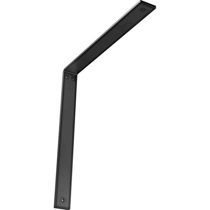 Hammered Black 2 Wx 8 Dx 8 Ekena Millwork BKTM02X08X08LEHBL 2 W D x 8 H Legacy Steel Bracket
