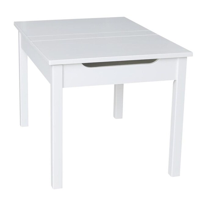 International Concepts Juvenile Table with Lift Up Top for Storage Java Finish