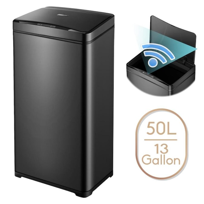 Motion Sensor Trash Can 13 Gallon Garbage Touchless Automatic Stainless Steel