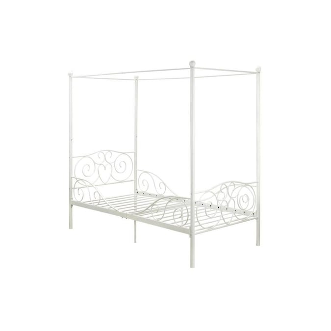 Dhp Capri White Twin Canopy Bed In The Beds Department At Lowes Com