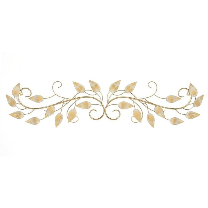 Homeroots 40 In X 0 75 11 Brushed Gold Over The Door Scroll Wall Decor Art Department At Lowes Com