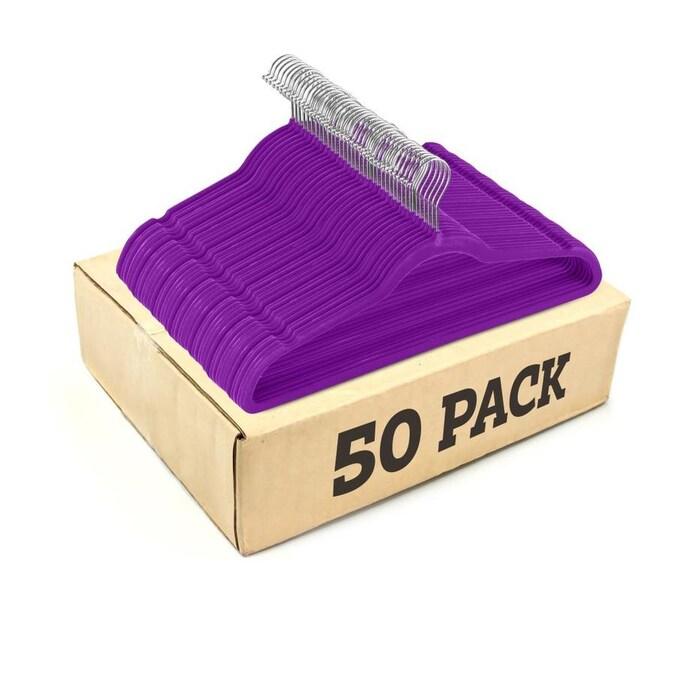 Non-Slip Velvet Hangers Ultra Thin Space Saving 360° Swivel Hook 50 pack