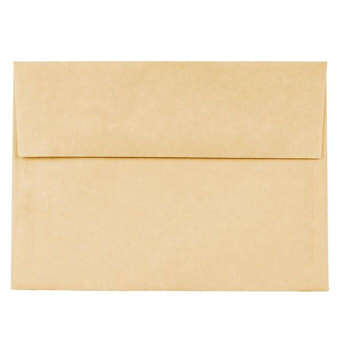 50 pack NATURAL 6.5 inch square Envelopes