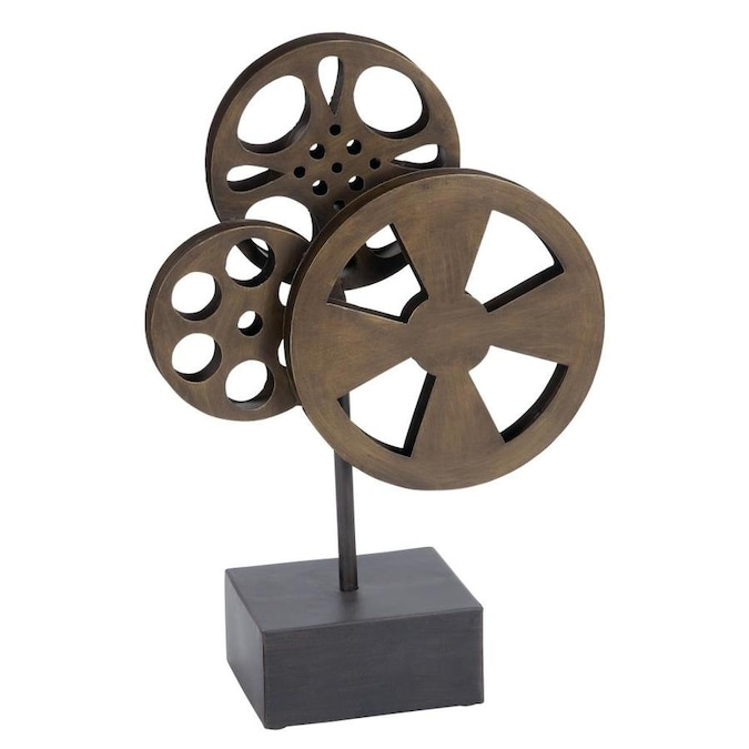 Antique Bronze Metal Movie Reels Wall Art Theater Home Decor FAMILY ROOM New