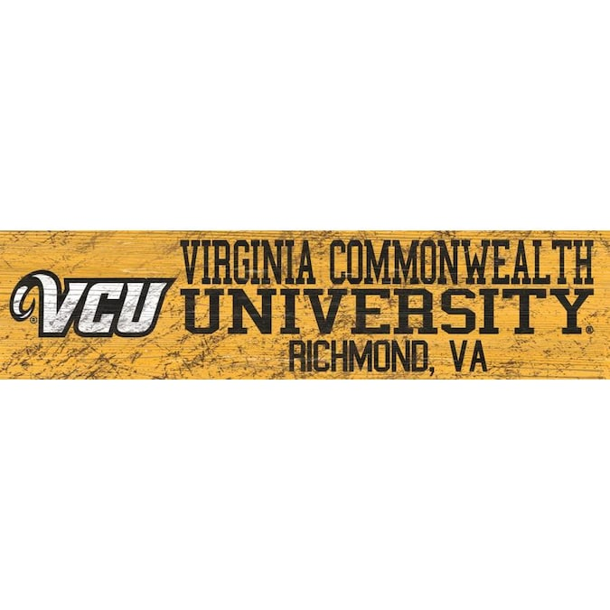Fan Creations NCAA Virginia Commonwealth Rams Unisex VCU Welcome Floral Sign 6 x 12 Team Color