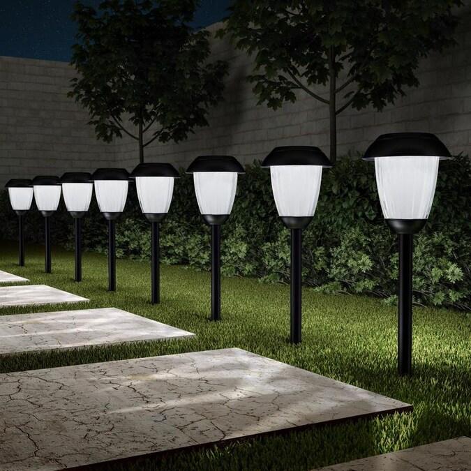 Day//Night Sensor Garden Path Driveway Column Anthracite 3-Fold Outdoor Sockets