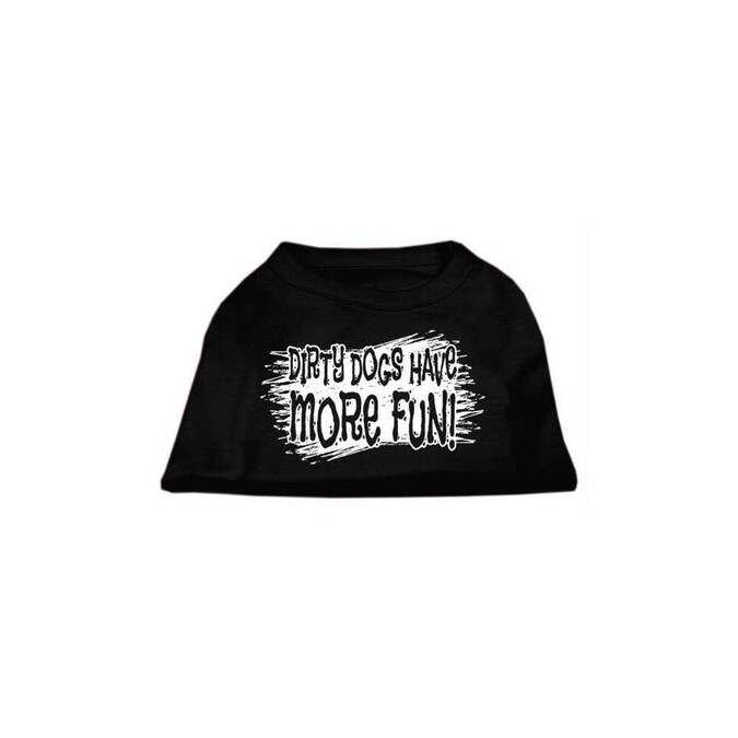 Small Aqua Mirage Pet Products 10-Inch Bed Hog Screen Printed Shirt