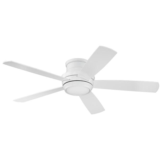 52 In Hugger Ceiling Fan Brushed Nickel Flush Mount LED Light Reversible Blades