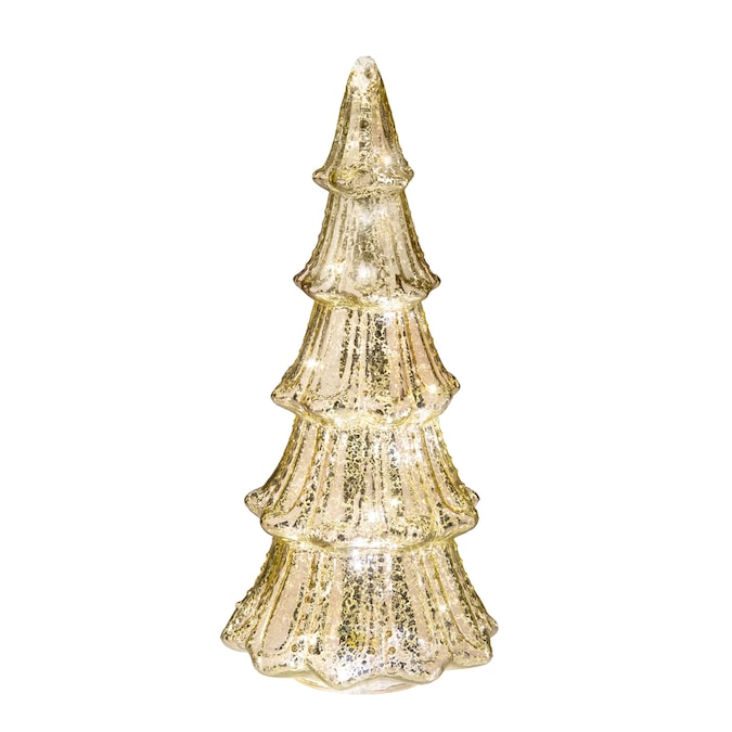 Haute Decor Faux Mercury Glass Tree Gold In The Christmas Table Decorations Department At Lowes Com
