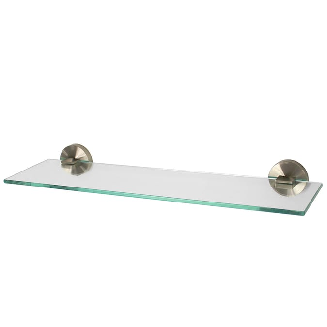Speakman Neo Brushed Nickel 1 Tier Glass Wall Mount Bathroom Shelf In The Shelves Department At Lowes Com