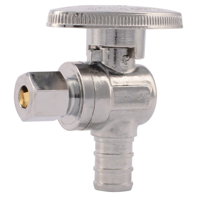 1 Pair BRASSCRAFT One-Piece FAUCET SUPPLY LINE Barbed PEX Multi-Turn Angle Valve