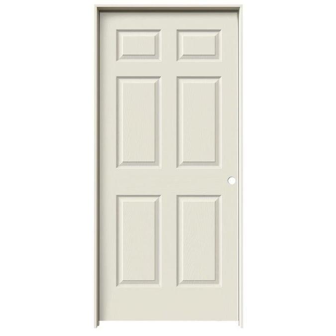 Prehung Interior Door National Door Company ZZ364269L Solid Core Left Hand 24x80 Molded 2-Panel Archtop Primed