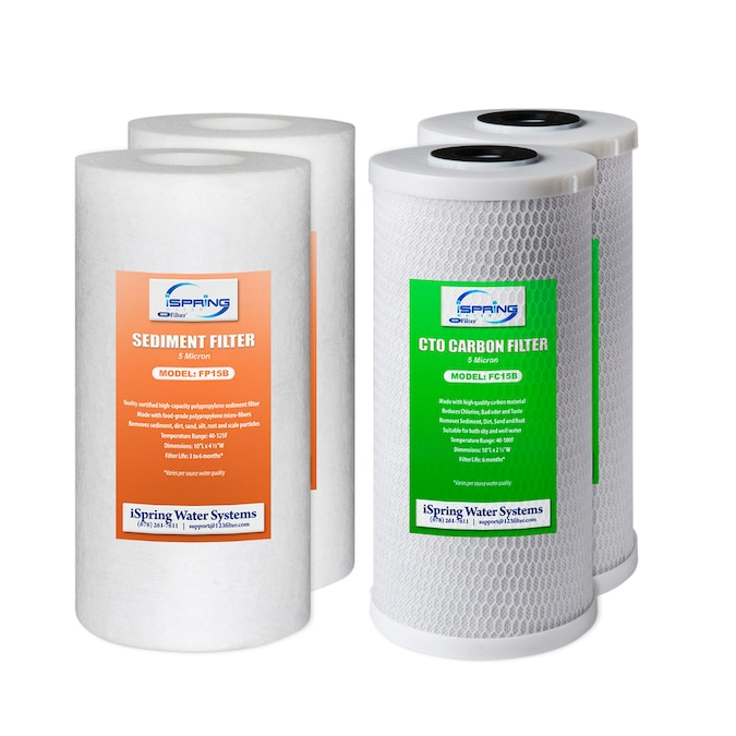 """2Pack Whole House CTO Water Filter Replacement Big Blue Carbon Block10/"""" x 4.5/"""""""