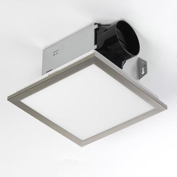 Utilitech Ventilation Fan 1 5 Sone 100 Cfm Brushed Nickel Bathroom Fan Energy Star In The Bathroom Fans Heaters Department At Lowes Com