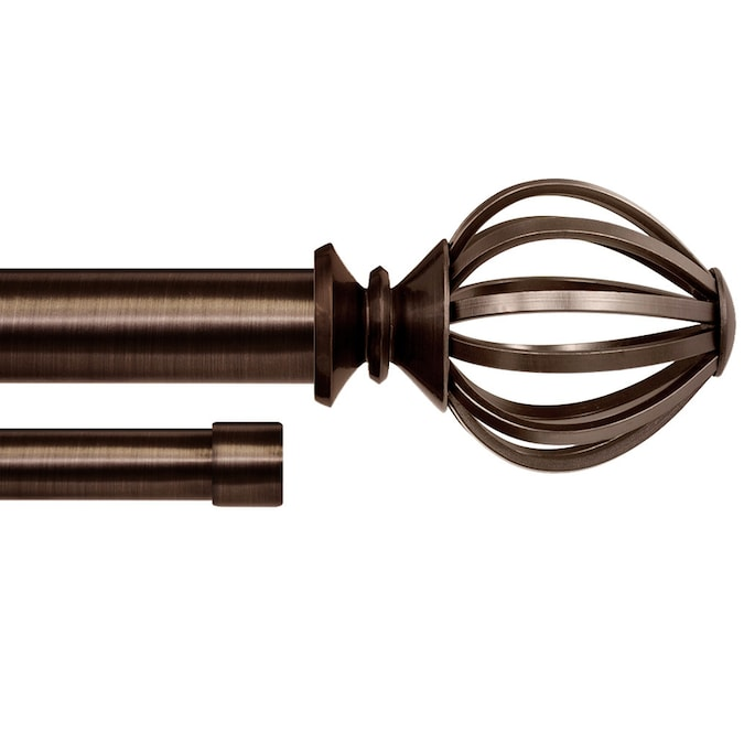 Lumino Semper 5//8 Double Rod /& Hardware Set 36-96 Dark Oil Rubbed Bronze