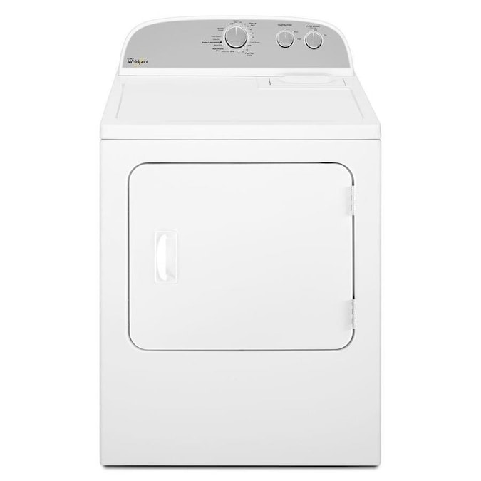 Whirlpool 7 Cu Ft Reversible Side Swing Door Gas Dryer White In The Gas Dryers Department At Lowes Com