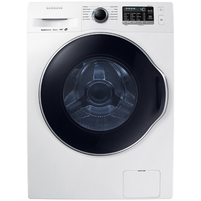 Samsung 2 Cu Ft High Efficiency Stackable Steam Cycle Front Load Washer White Energy Star In The Front Load Washers Department At Lowes Com