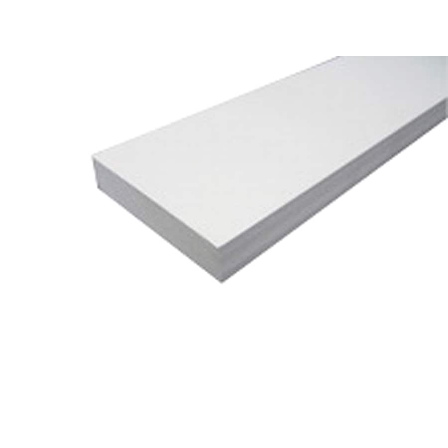 Rot Free 3/4 x 3-1/2 x 8 PVC Smooth/Textured Trim Board