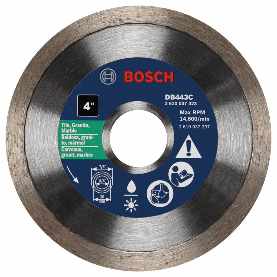 Bosch 4-in Wet or Dry Continuous Diamond Circular Saw Blade