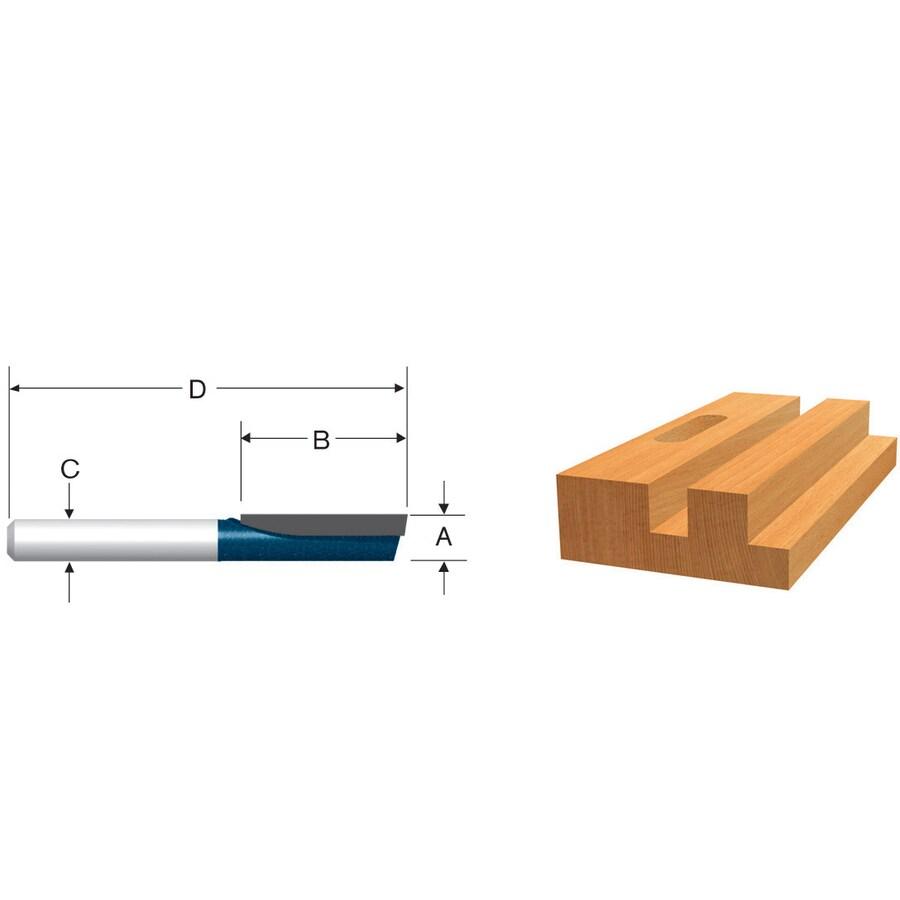 Bosch 3/16-in Carbide-Tipped Straight Bit