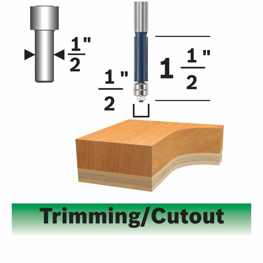 Bosch 1/2-in Carbide-Tipped Trimming Bit