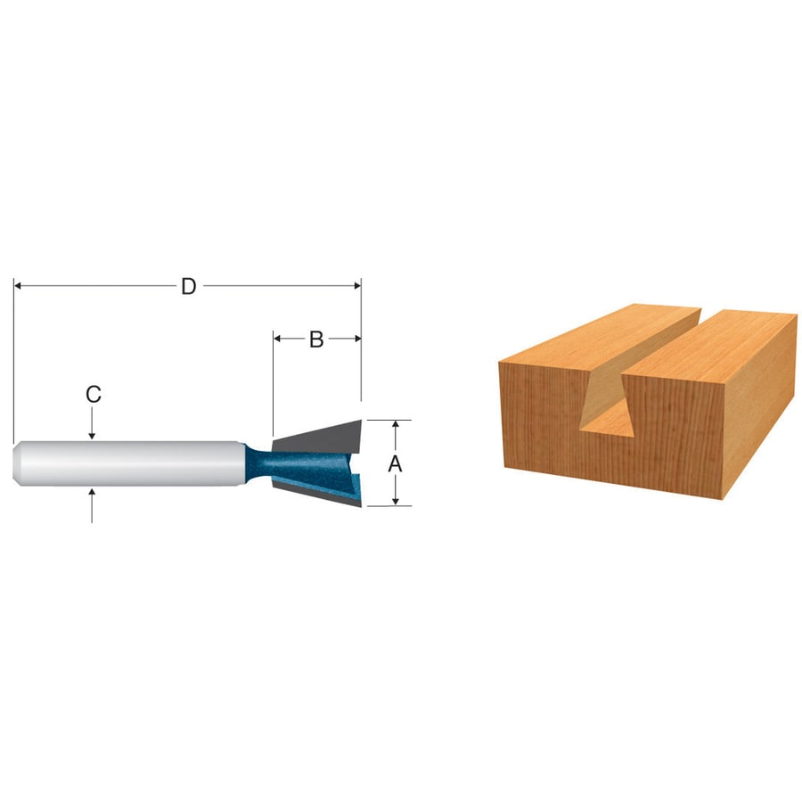 Bosch 1/2-in Carbide-Tipped Dovetail Bit