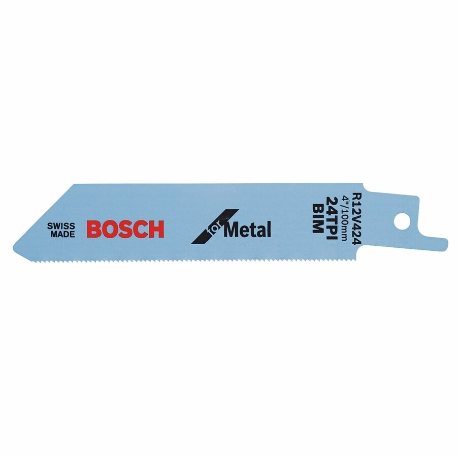 Bosch 5-Pack 4-in 24-TPI Bi-Metal Reciprocating Saw Blade