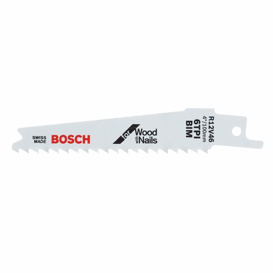 Bosch 5-Pack 4-in  6-TPI Bi-Metal Reciprocating Saw Blade