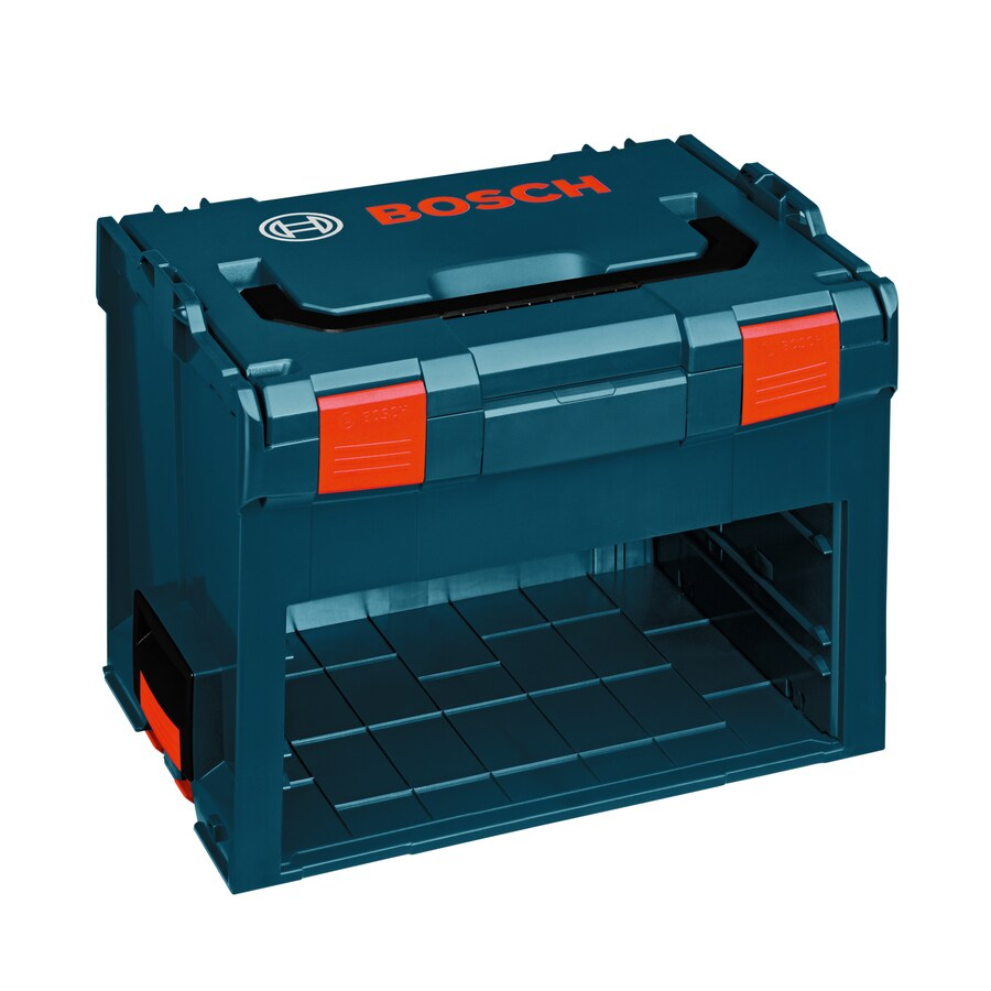 Bosch 17.25-in 2-Drawer Blue Plastic Lockable Tool Box