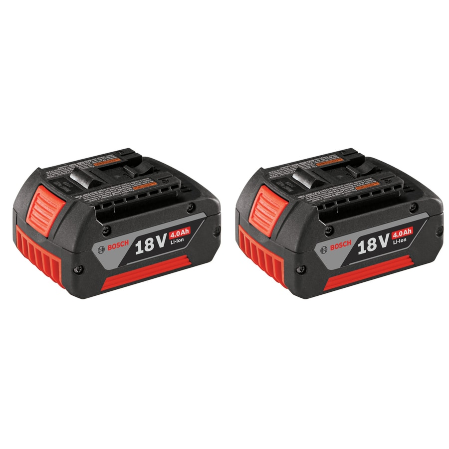 Bosch 2-Pack 18-Volt 4.0-Amp Hours Lithium Power Tool Battery